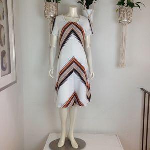 Vintage Striped Chevron Mizli Dress